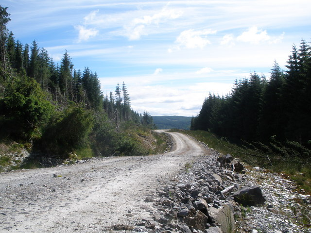 New forestry road above Glen Shira