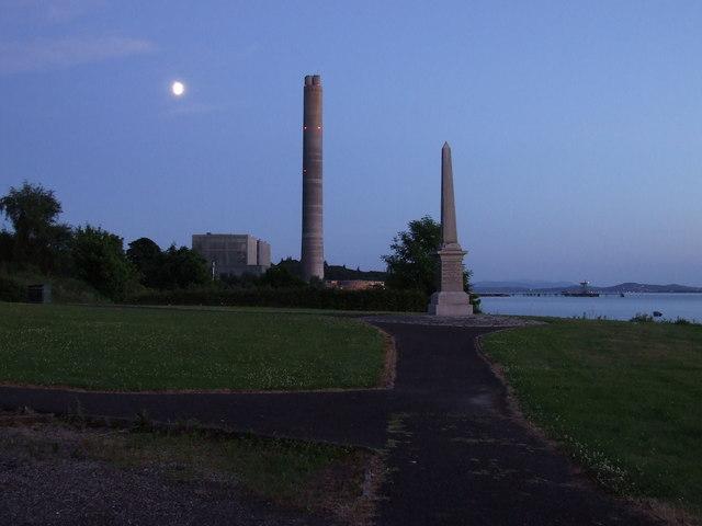 Inverkip War Memorial and Power Station