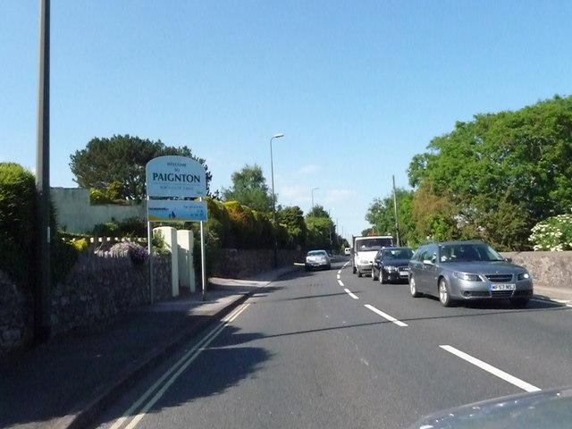 Paignton : Dartmouth Road & Paignton Sign