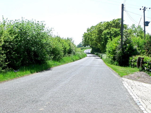 Road south of Chalvington, East Sussex