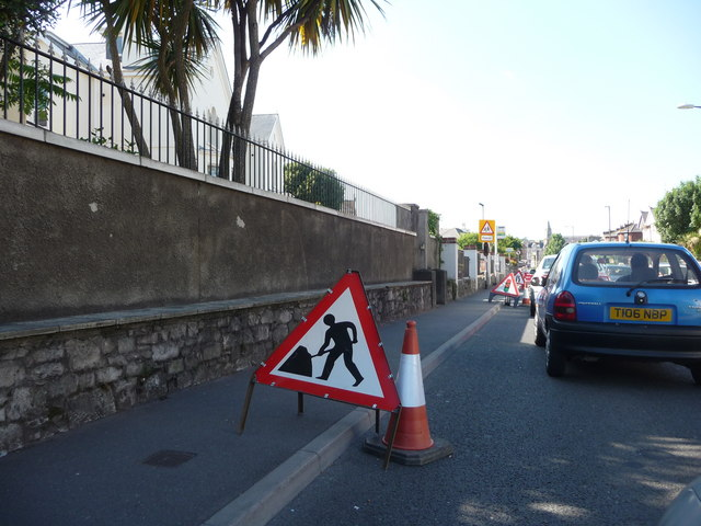 Paignton : Dartmouth Road & Roadworks