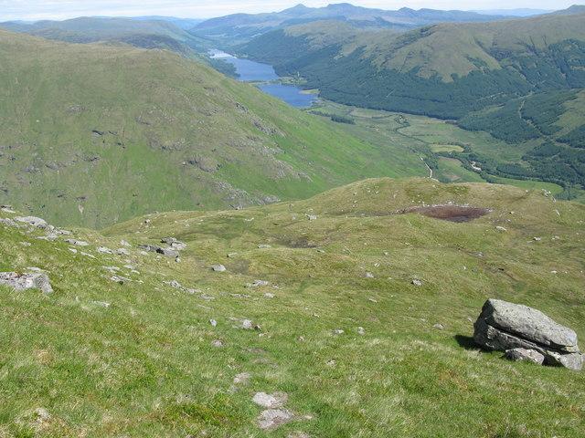 Descent of Beinn Tulaichean