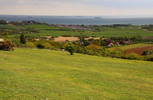 Looking out to sea from Brading Down