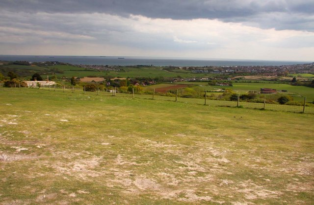 Looking down from Brading Down