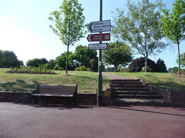 Paignton : Torquay Road A3022 Roadsign