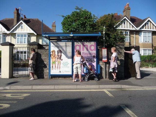 Babbacombe : Babbacombe Road & Bus Stop