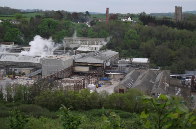 Looking down on Wansborough Papermill