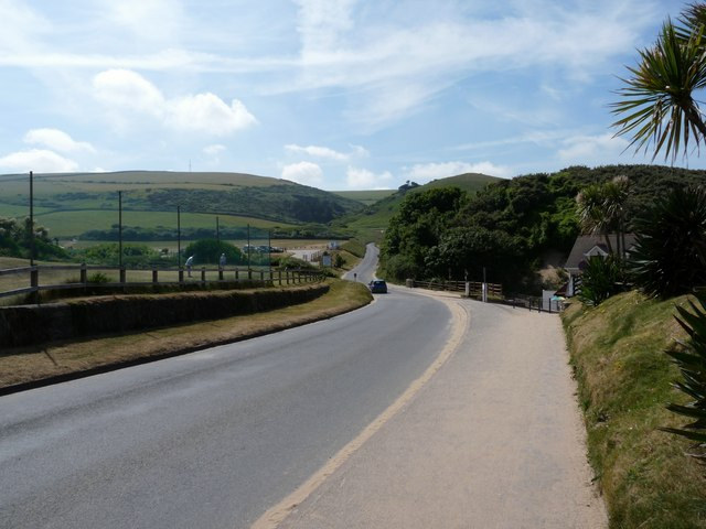 Challacombe Hill Road leaving Woolacombe to the south
