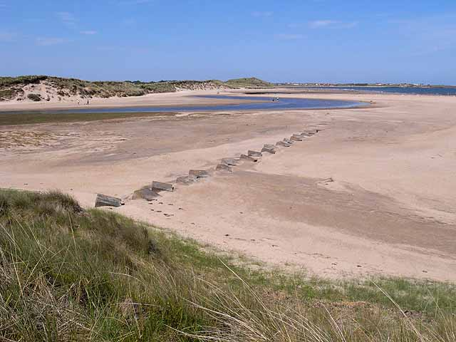 World War II defences and the mouth of the Long Nanny Burn
