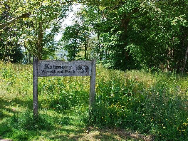 Entrance to Kilmory Woodland Park