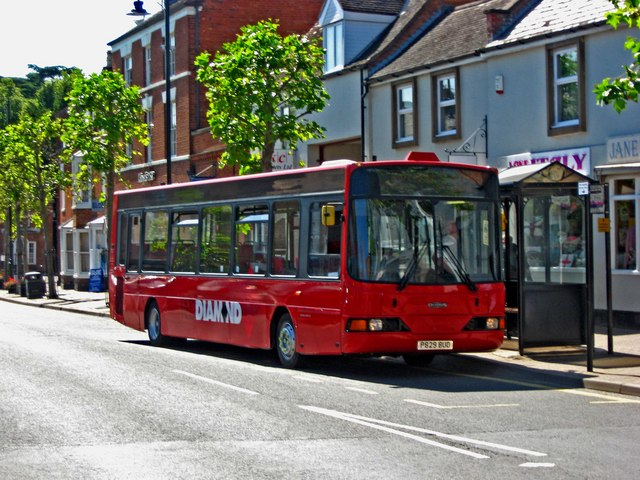 Red Diamond bus 406 in Broad Street