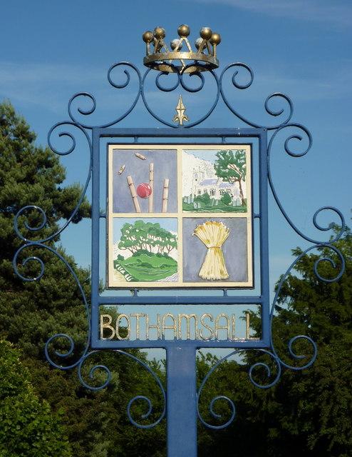 Bothamsall village sign