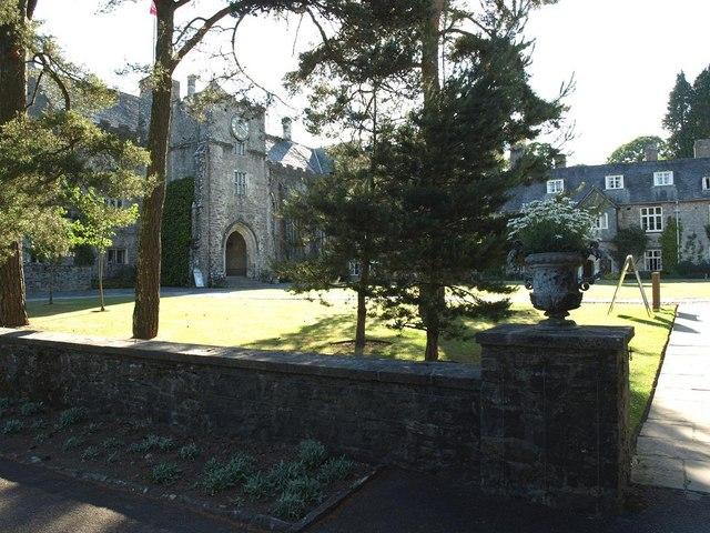 Dartington Hall courtyard