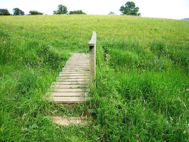 One-sided footbridge