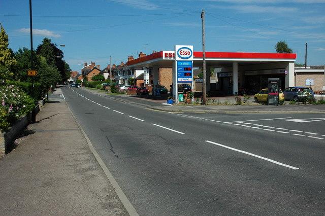 Esso filling station, Alcester