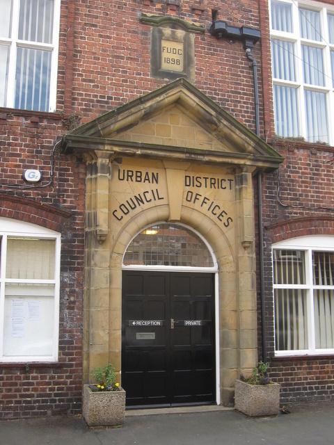 'Filey Urban District Council' doorway