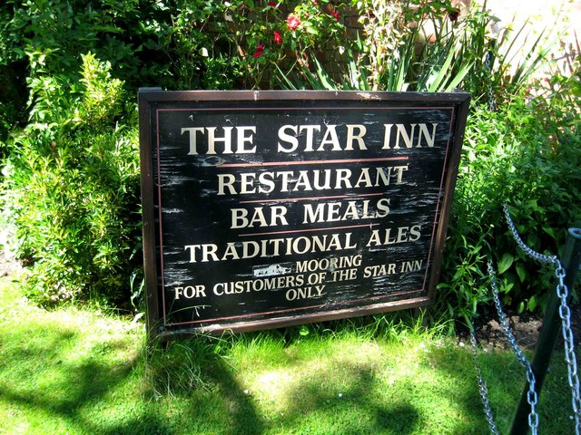 The Star Inn - sign by the River Avon