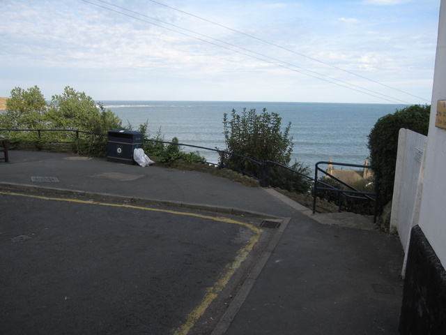 View to Filey Brigg from Queen Street