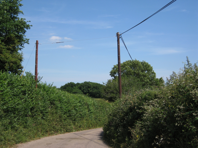 Bend in the lane to Hawkes Farm