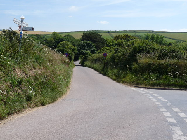 The Junction of Putsborough Road with Stentaway Lane