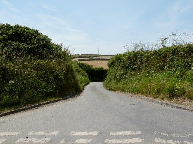 Stentaway Lane leading away from Putsborough Road