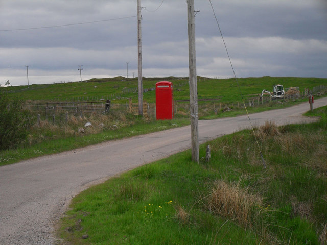 Red telephone Box with digger