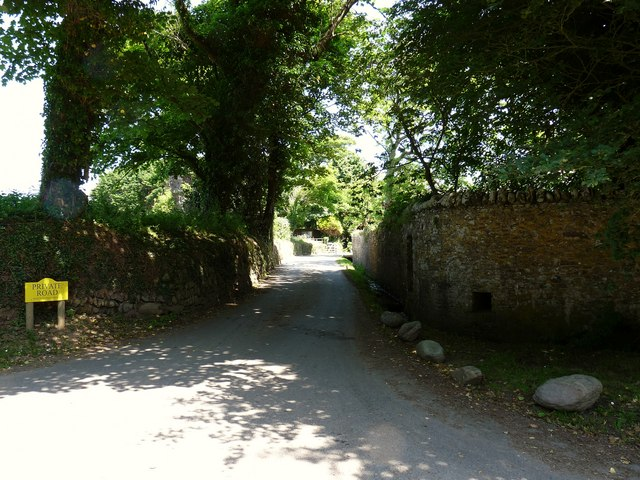 The road which runs through Putsborough