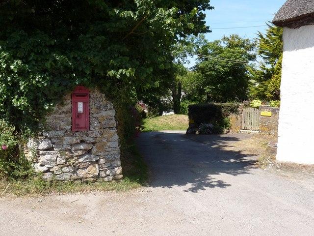 A postbox in Putsborough