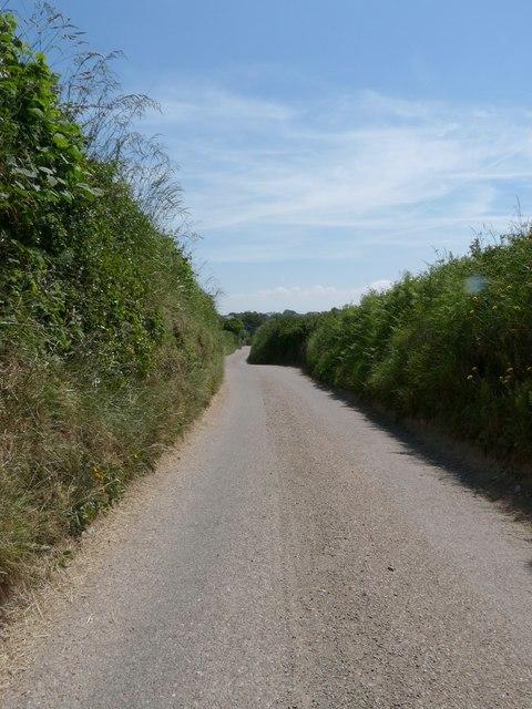 Putsborough Road approaching Georgeham
