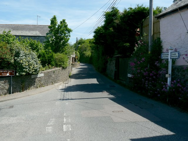 The junction of Chapel Street with Netherhams Hill