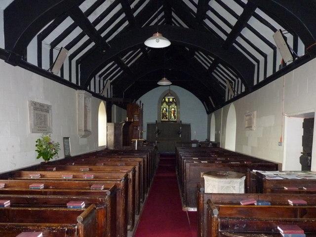 The interior of St John the Baptist's Church