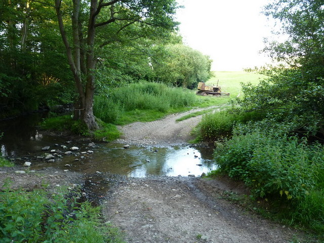 Bridleway ford over the Hughley Brook