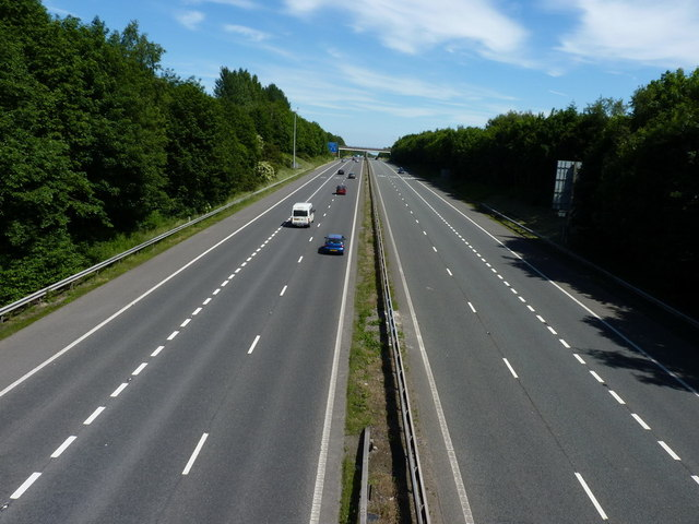 The M54, looking towards Telford Town Centre
