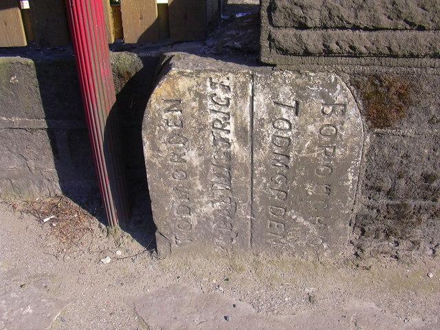 Boundary Stone (Detail) Halifax Road, Sandbed, Calderdale