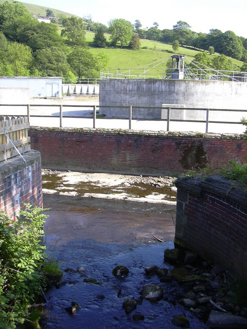 Stream joining the River Calder at Sand Bed