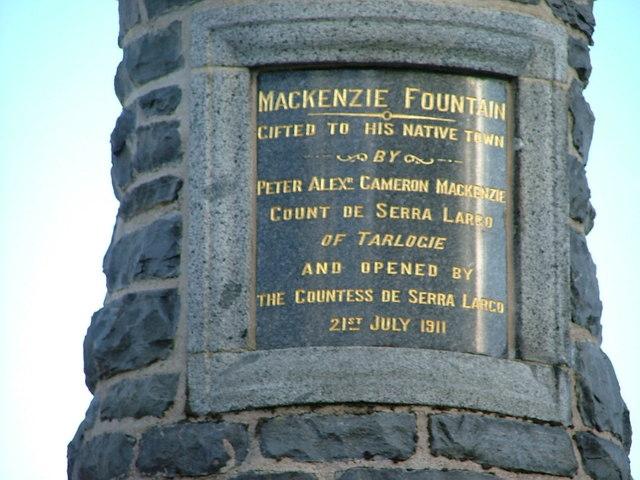 Detail on Mackenzie Fountain, Kingussie