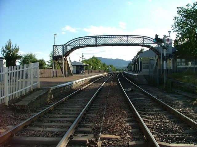 Footbridge at Kingussie railway station