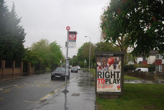 Bus stop, Beulah Hill (A215)