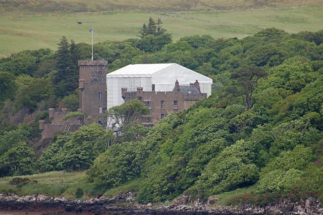 Dunvegan Castle under wraps