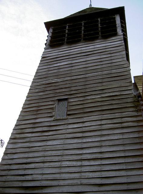Wooden spire at Raskelf