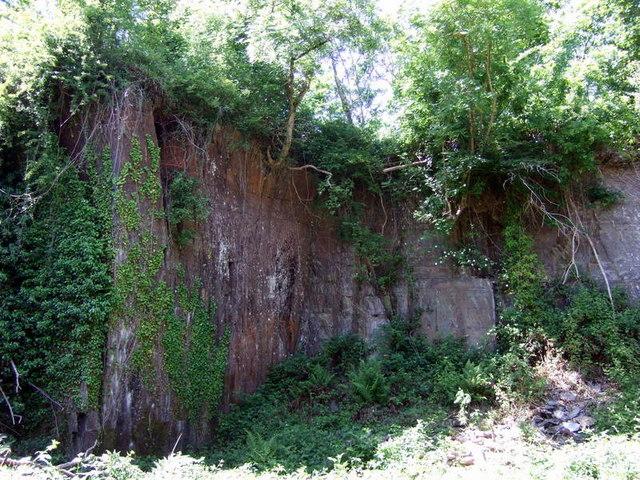Disused quarry near Cwm Morgenau