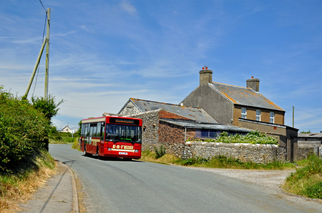 Pen-Y-Cae and local bus - Marcross