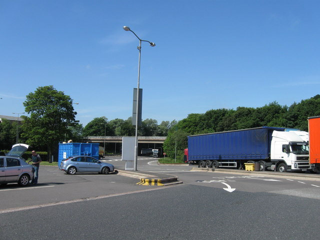 Entrance to Keele Services M6 South bound
