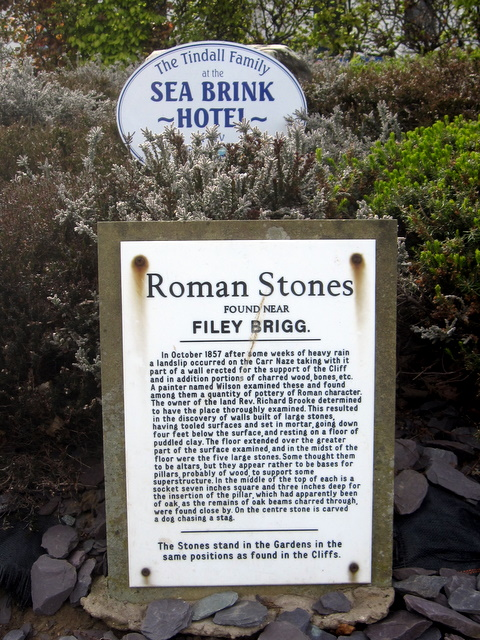 Roman Stones information board in Crescent Gardens
