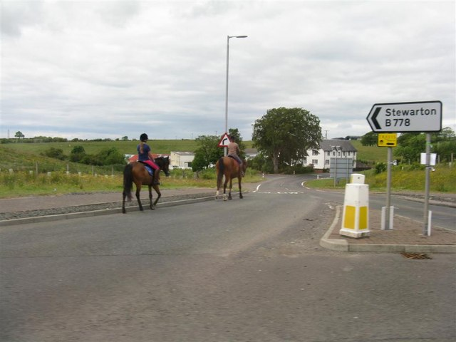 Riders on the Stewarton Road
