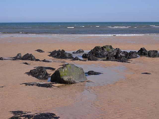 Rocks on the beach, Beadnell Bay