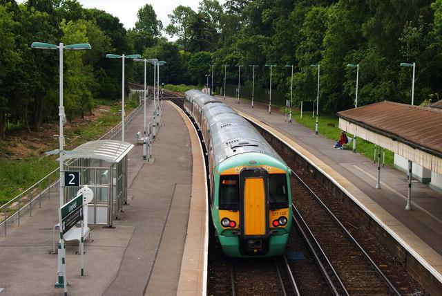 Train at Lingfield Station, Surrey