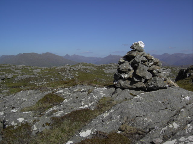 Cairn on summit of  Sgùrr Bhuidhe