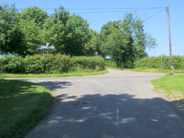 Junction with the Wicken to Lillingstone Lovell Road