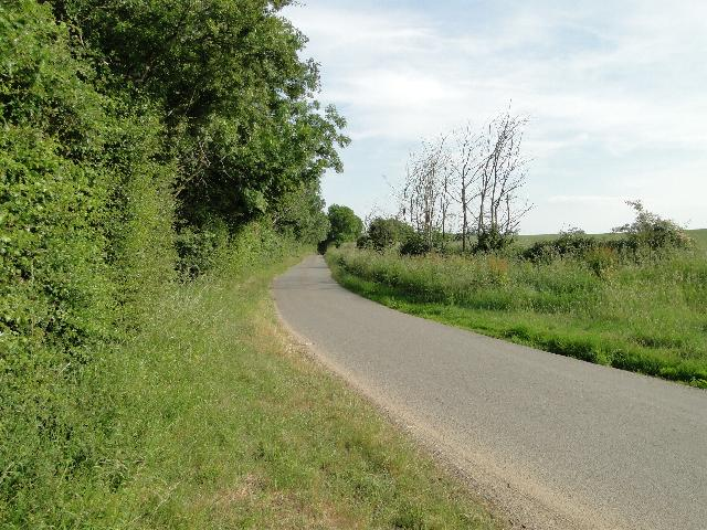 Country road at Cookley